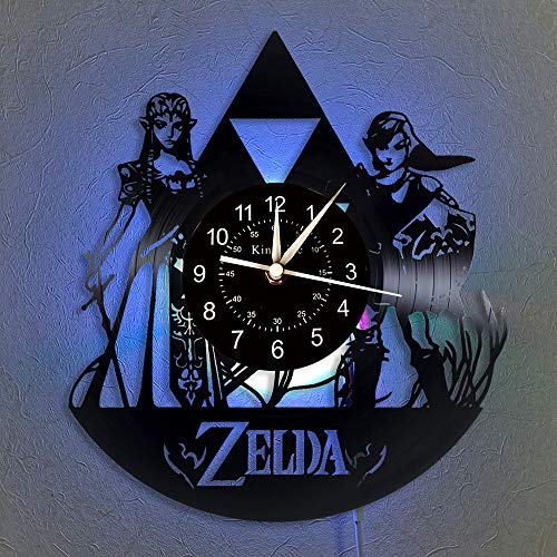 Cheemy Joint Die Legende von Zelda Vinyl Schallplatte Wanduhr LED Light 12