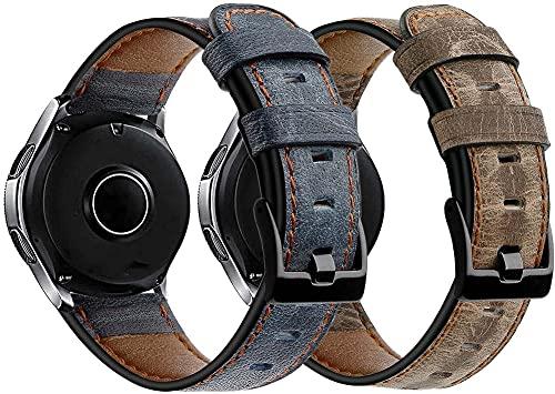 Chainfo Correa de Reloj Compatible con Polar Vantage M, Cross Piel Correa/Banda/Pulsera/Reemplazo (22mm, Pattern 2+Pattern 6)