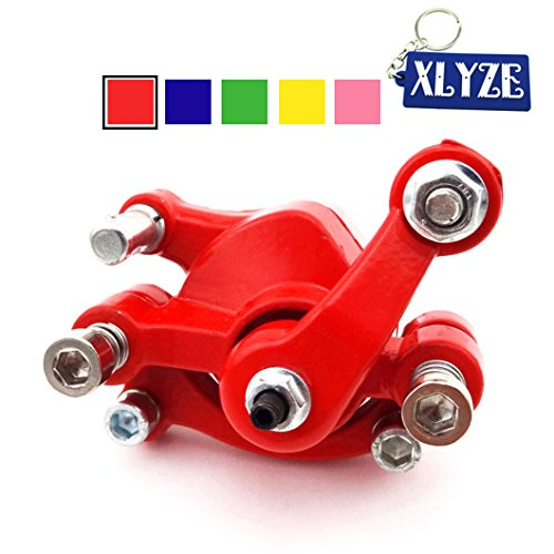 XLYZE Bremssattel Scheibenbremse vorne rot für 43cc 47cc 49cc Taschenfahrrad Mini Dirt Bike Elektro Gas Go Kart