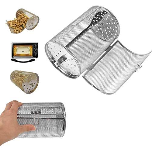 dededepeng Accessoire de barbecue en acier inoxydable pour rôtir des écrous de pâtisserie, des grains de café, des grains de cacahuètes, des barbecues, des grillades Small