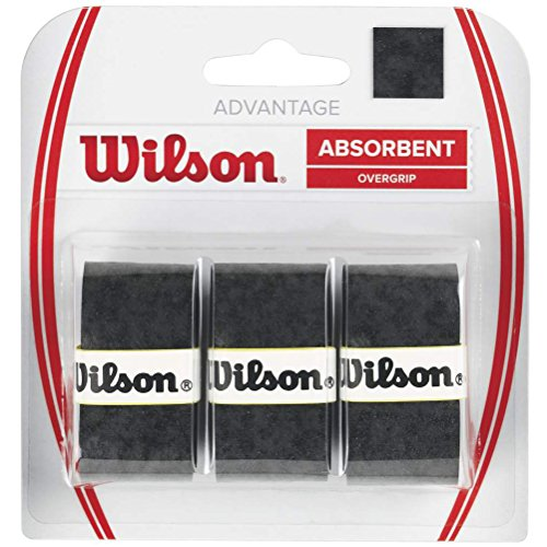 Wilson Grip WRZ4033BK Impugnatura Advantage Overgrip, Unisex, Nero, 3 Unità