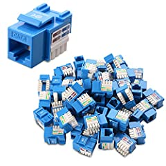CAT 6 RJ45 heavy duty keystone jacks fit patch panels, wall plates, or surface mount boxes with standard keystone blank openings; Accepts 23 and 24 AWG unshielded twisted pair (UTP) cable 10 GIGABIT ETHERNET Cat 6 performance to future-proof your net...