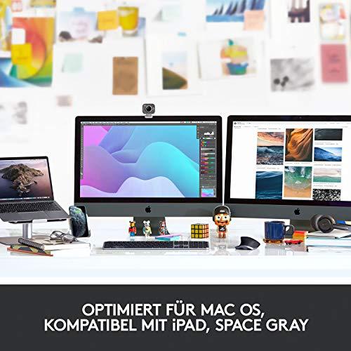 Logitech MX Master 3 – Die fortschrittliche, kabellose Maus für Mac, Ultraschnelles Scrollen, ergonomisches Design, 4.000 DPI, individualisierbar, USB-C, Bluetooth, für MacBook und iPad, Grau - 3
