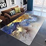 HJFGIRL Abstrakte Teppiche 3D Printed Cloud Layer Game Decke Nordic Soft Child Girl Schlafzimmer Teppich Big Carpet for Living Room Baby Crawling Mat,F,160x200cm(63x79inch)