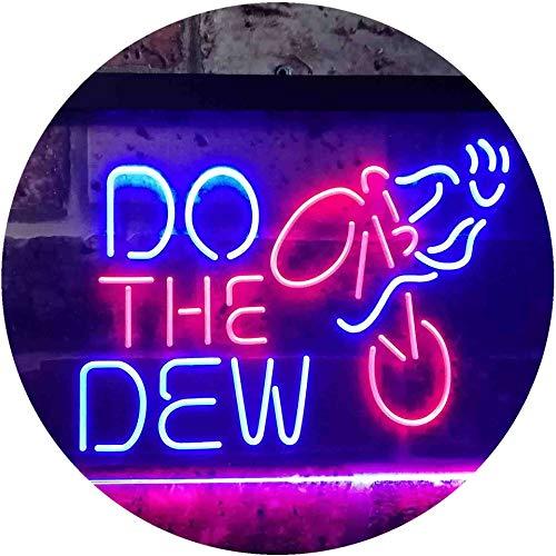 ADV PRO Do The Dew Mountain Bike Dual Color LED Barlicht Neonlicht Lichtwerbung Neon Sign Rot & blau 600 x 400mm st6s64-i3394-rb