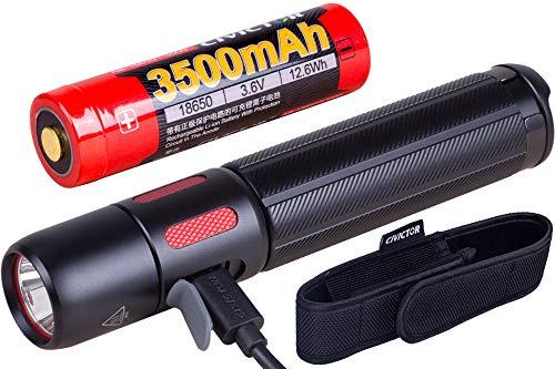 USB Recargable Potente Linterna Tactica Militar 1000 Lumens batería Linternas led alta potencia Led Linterna de Mano 18650 CR123A Policial Exterior Resistente al Agua Táctica Portatil Camping Bolsillo