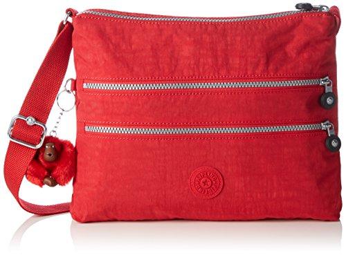 Kipling Alvar, Bolso bandolera para Mujer, Rojo (REF35J Vibrant Red), 33x26x4.5 cm