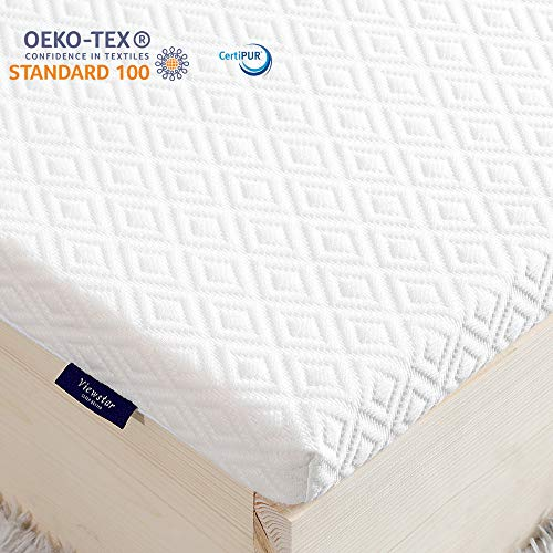 viewstar Topper 180x200cm, Memory Foam Matratzen Topper Visco Orthopädische Topper Viscoelastische Matratzenauflage Memory Schaum für Boxspringbett Antirutsch Weich 6 cm