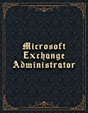 Microsoft Exchange Administrator Job Title Vintage Design Cover Lined Notebook Journal: 21.59 x 27.94 cm, Hourly, Hourly, Planning, 110 Pages, To Do List, A4, Organizer, 8.5 x 11 inch, Finance