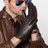 N / A los Hombres de Invierno cálidos Guantes Gruesos Guantes de Terciopelo más de Toque de Pantalla de de Oveja Grandes Yardas de conducción Modelos Delgadas (Color: Brown1.