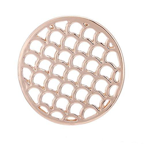 Morella® Damen Coin Wasserornament Rosegold 33 mm