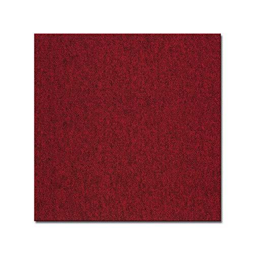 casa pura Teppichfliesen Vienna selbstliegend | hochwertiger Bitumen Rücken | strapazierfähiger Bodenbelag für Büro und Gewerbe | je 50x50 cm (rot - 4 Stück = 1qm)