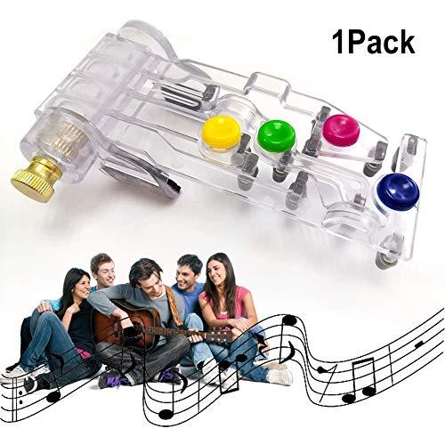 INTVN Gitarren-Lernhilfe für Klassische Akkorde, Chordbuddy Guitar Lernsystem Für Akustik- Und E-Gitarren mit 6 Bünden für Akkordanfänger, Übungsgerät für Akkordanfänger(Blau)