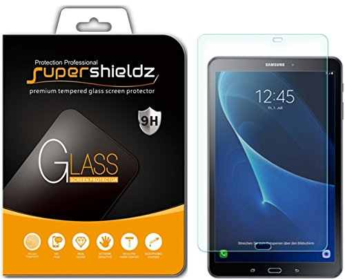 Supershieldz for Samsung Galaxy Tab A 10.1 (SM-T580, SM-T587 Model 2016 Release) Tempered Glass Screen Protector Anti Scratch, Bubble Free