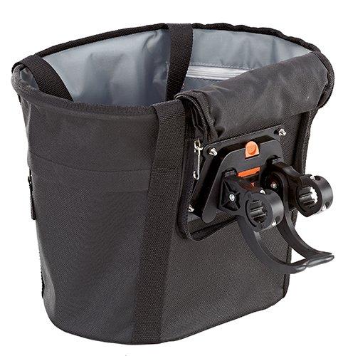 Prophete Lenker-Einkaufstasche VR-Korb mit textilem Überzug, schwarz, M
