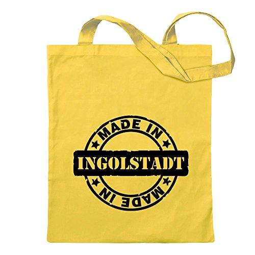 Kiwistar Made in Ingolstadt Tragetasche Baumwolltasche Stoffbeutel Umhängetasche Langer Henkel