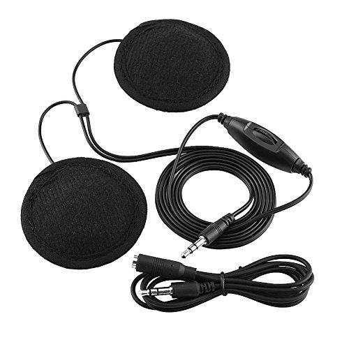 Keenso Motorrad Helm Kopfhörer Stereo Anruf Headset Kopfhörer 3,5 mm Klinkenstecker für Handy MP3