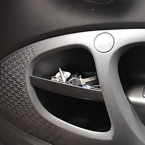 DIYUCAR Para Benz Smart 453 fortwo 2015-2019 manija de la puerta del coche caja de almacenamiento contenedor guante auto organizador accesorios interiores
