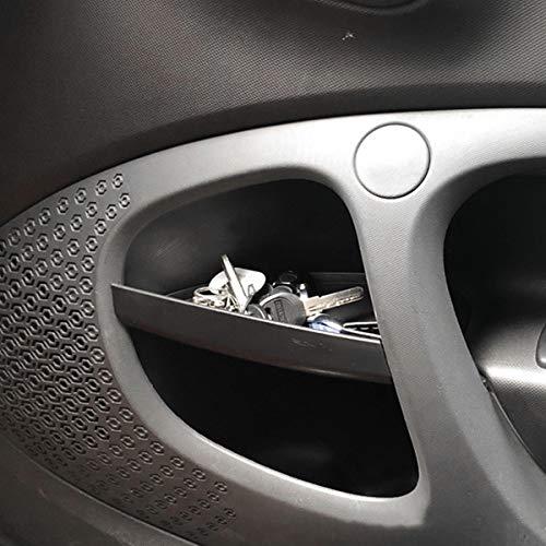 Diyucar para Benz Smart 453 Fortwo 2015-2019 caja de almacenamiento para manija de puerta de auto, organizador de guantes, accesorios interiores