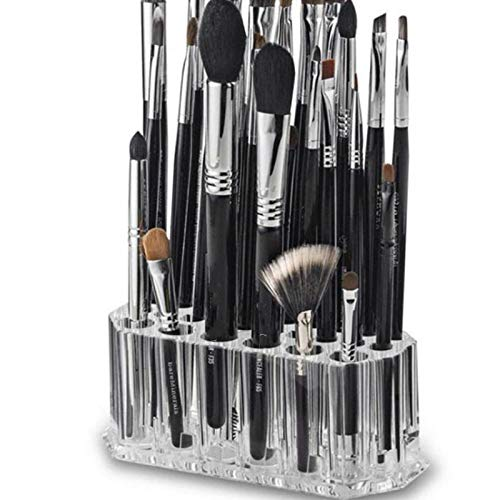 26 Trous Cosmetic Brush Box Acrylique Eyebrow Pencil Eyeliner Organisateur Multifonctional Desktop Makeup Cosmetic Display Stand