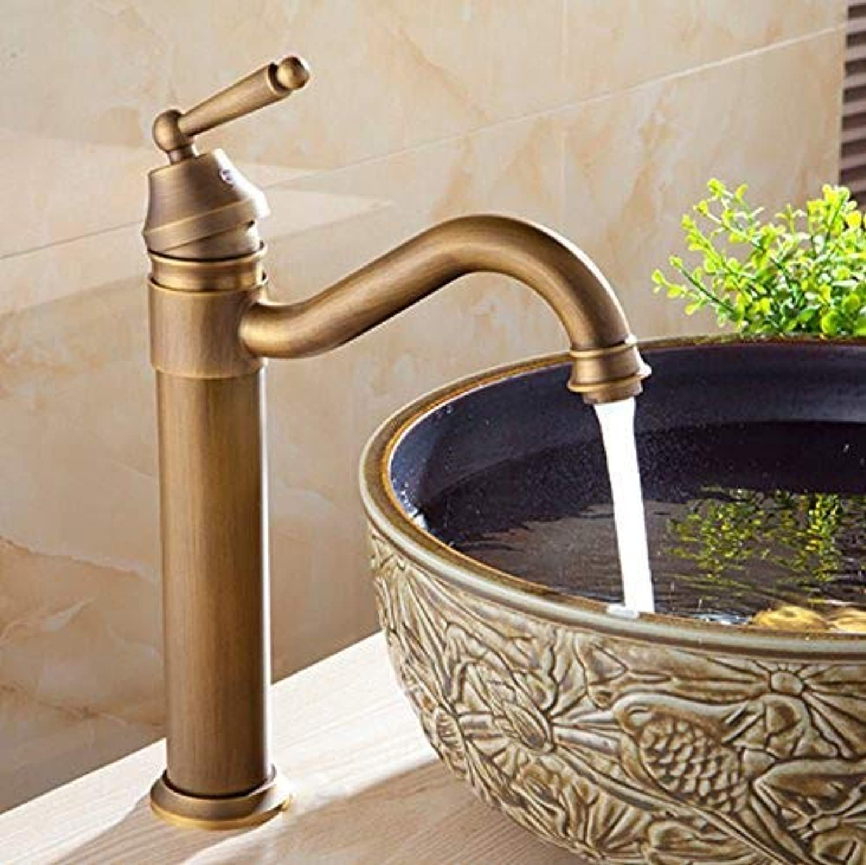 SEBAS HOME Taps Basin Faucets Bath Antique Finish Brass Water Tap Bathroom Basin Sink Faucet Vanity Faucet Wash Basin Mixer Taps Crane Taps
