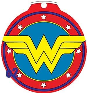 O2 Circle Team JLA Batman Superman Wonder Woman Lantern Comic Art Design Custom Logo Dog Pet Cat ID Tag Round Shape Personalized Key Ring