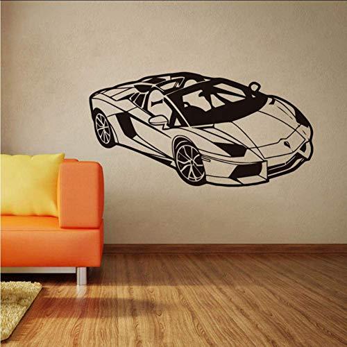 Kids Room Wall Decals Fashion Sport Racing Car Wall Sticker Vinyl Car Poster Home Bedroom Decor Car Race Club Wall Mural 60X30Cm