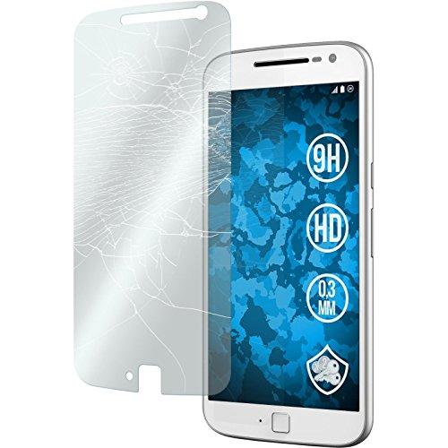 PhoneNatic 2 x Glas-Folie klar kompatibel mit Motorola Moto G4 Plus - Panzerglas für Moto G4 Plus
