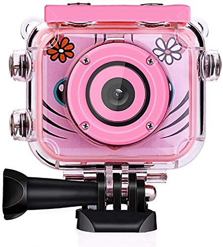 Smyidel Kids Digital Camera,1080P Supported Waterproof Video Camera Mini 2 Inch Screen Best Gift for Kids (Pink)