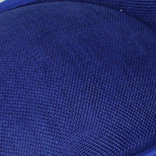 FHKGCD Flor Verde Fascinator Sombreros Tocado De Boda Fedora Cóctel Fiesta De Té Sombreros De Iglesia Clips para El Cabello Accesorios, Azul Real,