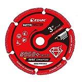EZARC Disco de corte profesionales, 75mm para Amoladora Angular, Disco Corte para Hoja de Metal, Tubos y Perfiles de Metal, Hierro, Hierro Fundido