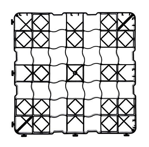 acerto 30354 1x grille à gazon, 50 x 50 x 4 cm - praticable - jusqu'à 240t/m²   Grilles à gazon de haute qualité, plaques de paddock