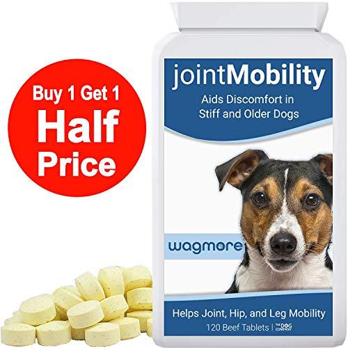 Suplemento para el cuidado de las articulaciones con glucosamina, cúrcuma y boswellia para reducir incomodidad y movilidad de articulaciones, cadera y las piernas para perro y perritos 120 Pastillas