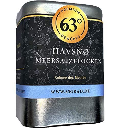63 Grad - Havsnø Meersalzflocken - Feines Meersalz aus dem Atlantik (90g)
