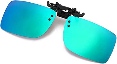 Polarized Clip-on Sunglasses with Flip Up Function Anti-Glare UV 400 Driving Glasses Clip-on for Prescription Glasses