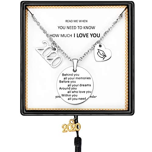 SAM & LORI Inspirational Graduation Gifts Cuff Bracelet Bangle Necklace - silver - One Size