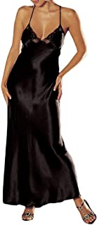 MERICAL Damen Dessous Spitze Babydoll Damen unterwäsche Sleepskirt Satin Spitze langes Kleid