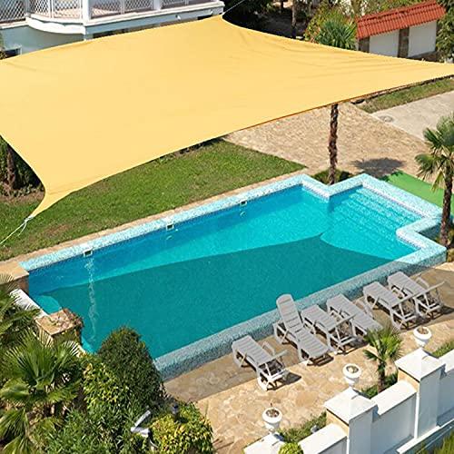 YCSD Impermeable Toldo De Vela De Sombra Rectángulo Tela para Sombrillas Toldo para Exteriores Patio De La Piscina Toldos De Vela Tela De Sombreo para Camping Protección Rayos UV(Size:2.5X2.5m)