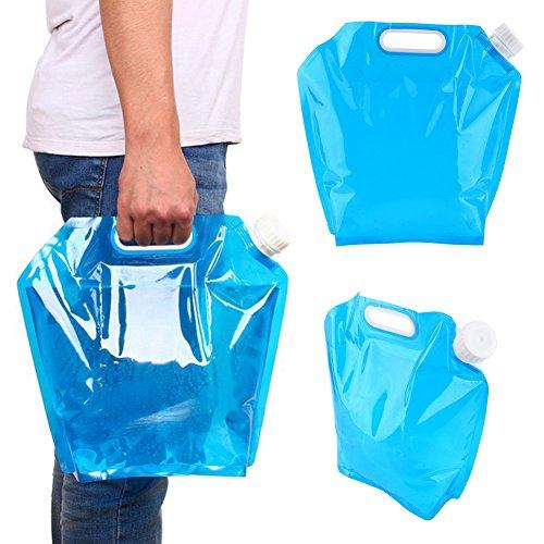 5L/10L sacchetto di acqua potabile contenitore pieghevole Outdoor pieghevole campeggio serbatoio acqua per equitazione escursionismo picnic Travel BBQ