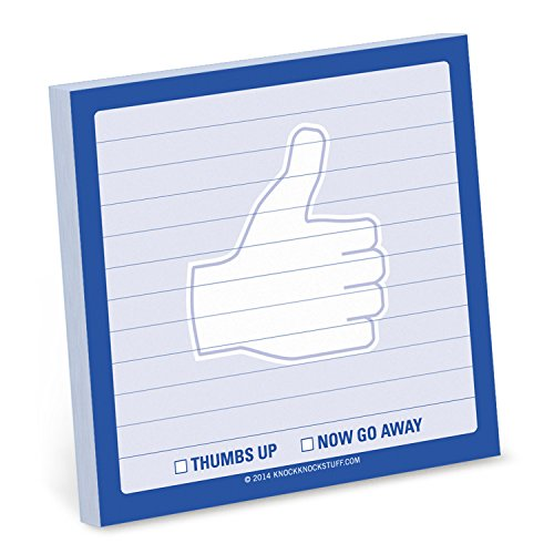Knock Knock 100-Count Thumbs Up Gesture Sticky Note Signs (12459)