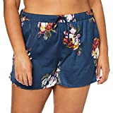 Joules Women's Lilly Pajama Bottom, Navy Peony, M