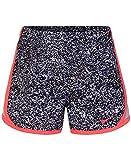 Nike Girls' Dry Tempo Running Shorts (Wolf Grey(3MC856-174)/Pink, 6) -