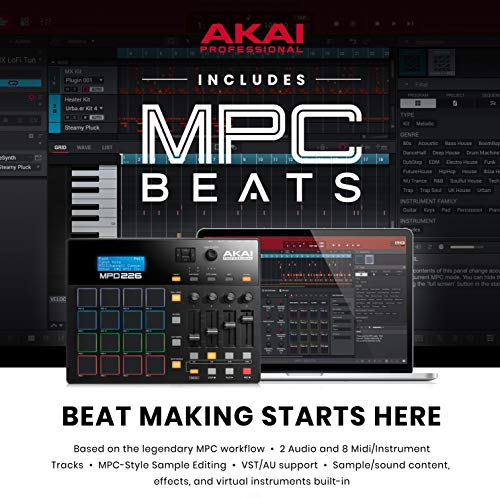 Akai Professional MPD226 | 16-Pad USB/MIDI Pad Controller With Full Complement of Fully-Assignable, Production-Ready Controls