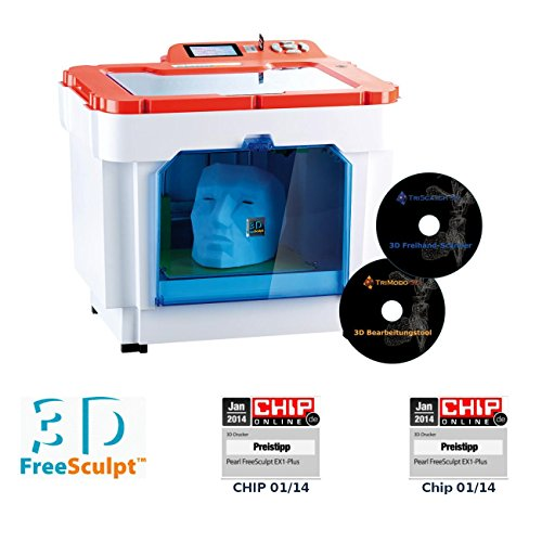 FreeSculpt 3D Printer: 3D-Drucker/-Kopierer EX1-ScanCopy mit 2X Software