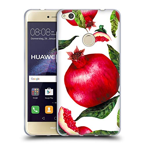 Head Case Designs Oficial Haroulita Granadas Alimentos - Frutas Carcasa de Gel de Silicona Compatible con Huawei P8 Lite (2017)