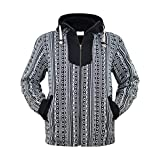virblatt –Baja Jacke Poncho Herren Goa Hoodie Pullover Hippie Kleidung Ethno Mode - Amsterdam XL