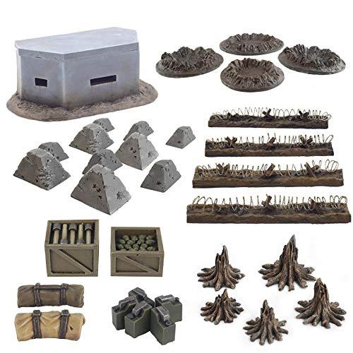 War World Gaming World at War - Sistema de Trincheras - Accesorios en Resina - 28mm, WW1, Wargames, Miniaturas, Escenografía, Gran Guerra, Contienda Militar