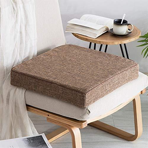 Cuscino Quadrato per Sedia Cuscino Di Seduta Quadrato Spesso, UK-Gardens - Cuscino Per Seduta Di Poltrona Da Giardino, Grande E Spesso, Forma Quadrata ( Color : Brown , Size : 50x50x8cm(20x20x3inch) )