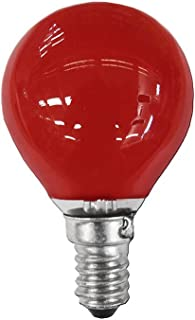 Clar-leuci - Lámpara incandescente esferica rojo 25w 230v e-14
