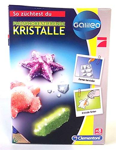 Bundle Clementoni Galileo Natur unter dem Mikroskop Phosphoreszierende Kristalle
